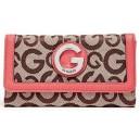 Dámská peněženka G by Guess - Keena Slim Wallet Mocha