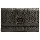 Černá peněženka Guess - Maxton Glazed Logo Slim