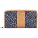 Peněženka Guess - Ware Logo Jacquard Zip-Around