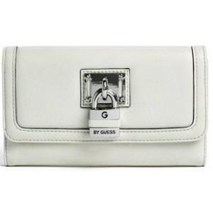 Bílá peněženka G by Guess - Hugues Checkbook Wallet