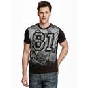 Pánské černé tričko Guess - Krause Money Crew vel. M,L,XL,2XL