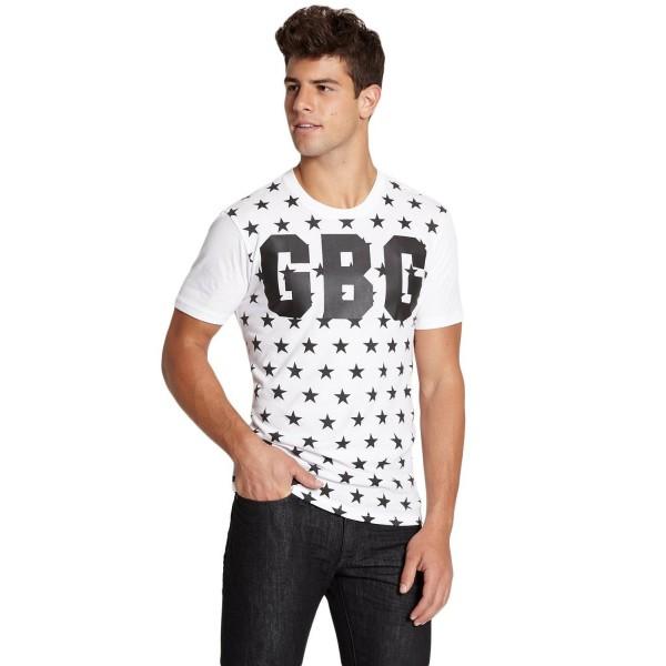 Pánské bílé tričko G by Guess - Standard Graphic vel. 2XL