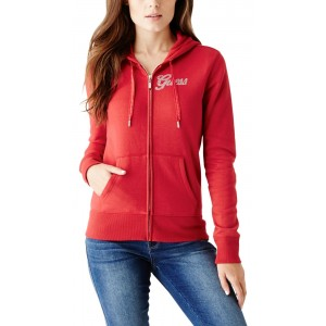 Červená mikina Guess - Andrey Zip-Up Hoodie vel. XS 6390191910b