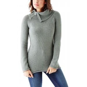 Šedý svetr Guess - Damita Zip-Collar Sweater vel. XS,M,L