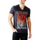 Pánské tmavě šedé tričko Guess - Barlet Logo vel. S,M,L,XL,2XL