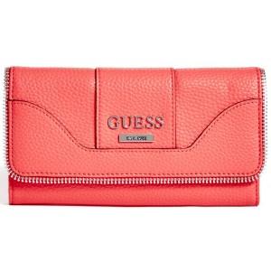 ab2cffb6b9c Korálová peněženka Guess - Hilltop Slim Wallet - HMFashion ...