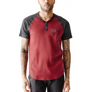 1285a9e94ad Pánské tričko Guess - Arran Raglan Henley vel. M - HMFashion ...