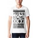 Pánské bílé tričko Guess - Amstead Graphic vel. L,XL,2XL
