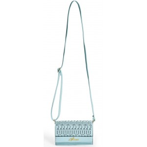 Tyrkysové crossbody Guess - Wallet On String