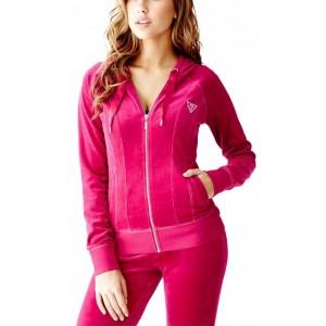Růžová mikina Guess - Corely Velour vel. XS