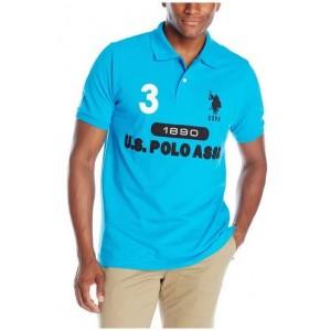 Pánské tyrkysové polo triko U.S. Polo Assn. vel. M,2XL