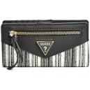 Peněženka Guess - Hanna Zipper Slim Wallet Stripe