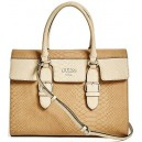 Kabelka Guess - Sereba Snake-Embossed Satchel Natural multi