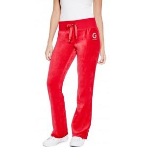 Červené tepláky G by Guess - Peyton Velour vel. XS,S,M,L
