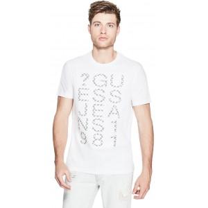 Pánské bílé tričko Guess - Dylan vel. XS,S,M,L,2XL