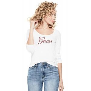 Bílé tričko Guess - Clover Logo vel. XS,M,L
