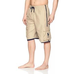 Pánské khaki koupací šortky U.S. Polo Assn. vel. XL