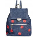 Modrý batoh Guess - Rosanna Flap Backpack