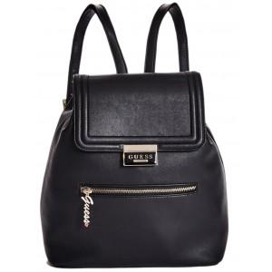 Černý batoh Guess - Rosanna Flap Backpack