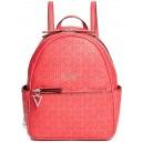 Červený batoh Guess - Evans Logo-Embossed Backpack