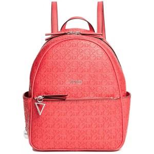 Červený batoh Guess - Evans Logo-Embossed Backpack - HMFashion ... d6a78549bf