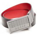 Černý/červený pásek Guess - Reversible Crosshatch vel. 30,32,34,36,38