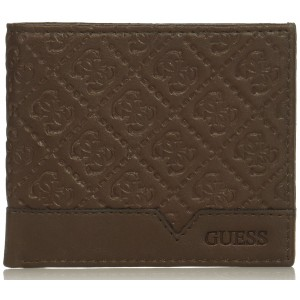 Pánská hnědá peněženka Guess - Slim Bifold