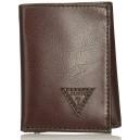 Pánská hnědá peněženka Guess - Trifold