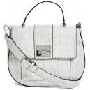 Mini šedá kabelka Guess - Cali Croc-Embossed Bag