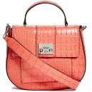 Mini červená kabelka Guess-Cali Croc-Embossed Bag