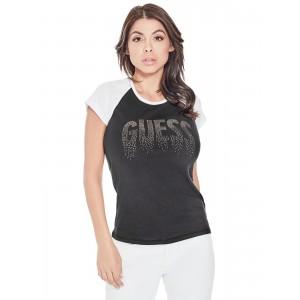 Černé tričko Guess - Deva Raglan Logo vel.  XS,S,L,XL