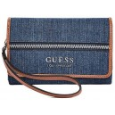 Modrá peněženka Guess - Bonora Logo Smartphone Wallet