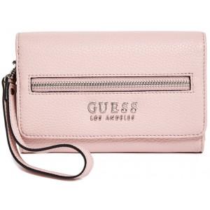 Růžová peněženka Guess - Bonora Logo Smartpone Wallet