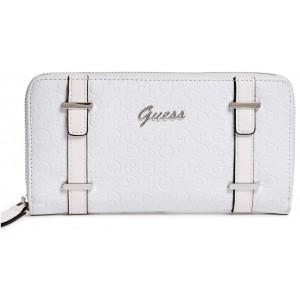 Bílá peněženka Guess - Stansfield Zip-Around Wallet