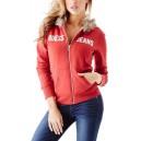 Červená mikina Guess - Fabianna Faux vel. XS,S,L