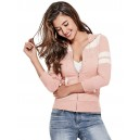 Dámský růžový svetřík Guess - Larsen Logo vel. XS