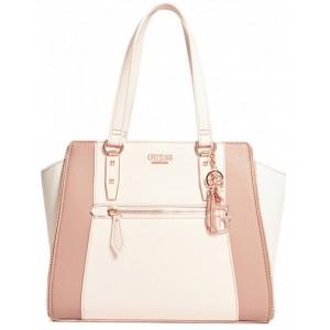 2a29ab156f0 Růžová kabelka Guess - Teyanna Zipper Satchel - HMFashion - značkové ...