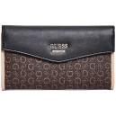 Hnědá peněženka Guess - Diem Logo Slim Wallet