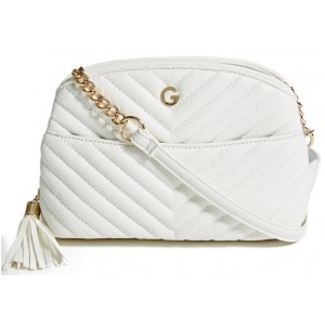 Bílé crossbody G by Guess- Bridget Chevron-Quiltet
