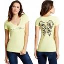 Světle zelinkavé tričko G by Guess - Jasleen Sequin Wing vel.  XS,S,M,L,XL