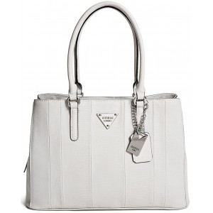 Kabelka Guess- Bay View Faux-Lizard Satchel Desert