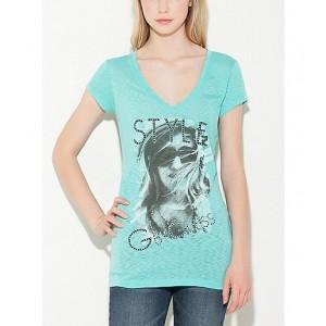 Tyrkysové tričko G by Guess vel. XS,M,L,XL