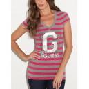 Exkluzivní pruhované tričko G by Guess vel. XS,S,M,L,XL