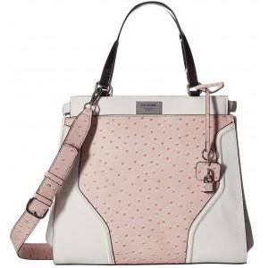 Bílá/růžová kabelka G by Guess - Watch Me Satchel
