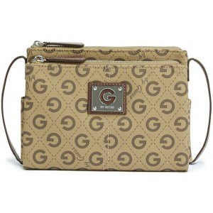 Crossbody G by Guess - Lucette Logo Taupe