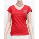 Luxusní červené tričko Guess s potiskem vel. S,M