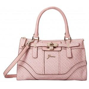 Růžová kabelka Guess - La Vida Logo Small Satchel
