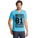 Tyrkysové tričko Guess - Clifford Tee vel. S,M,L,XL,2XL